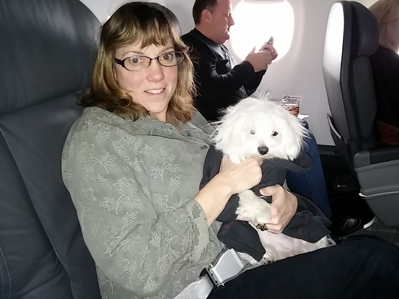 Carol and Pula in Airplane