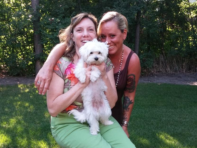 Marlaina and Carol with Pula
