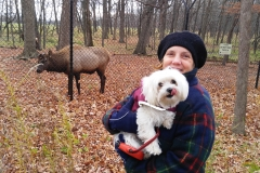 Carol and Pula and the Elk 1