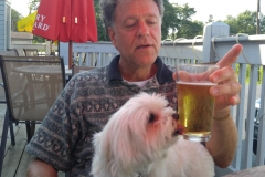 Pula enjoys a beer with Dad 2017