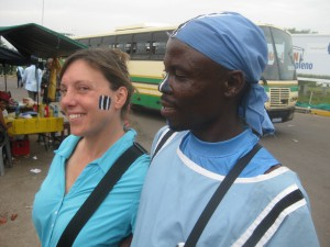 We are sporting the Botswana Flag on our faces to show support