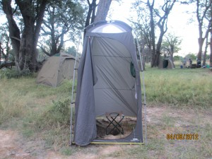 Outhouse at camp - it is more comfortable than it appears