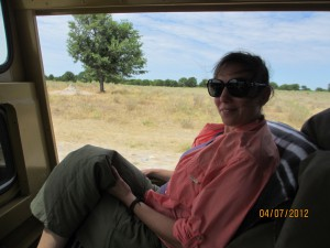On the road in our safari truck