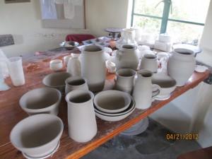 The pots John made