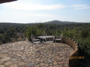 A view from the guest house
