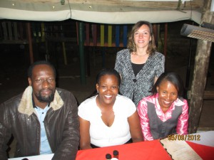 Some teachers from School at the Dinner with me
