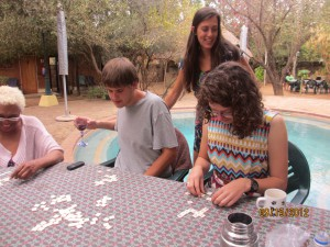One of our favorite games - bananagrams