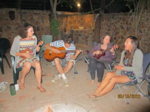 We had a little love fests with guitars and ukalale's and the fire
