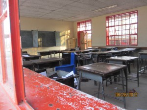 Standard Classroom.  45 to 50 students are in each class