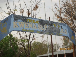 Welcome to Kwena Sereto CJSS - is what it used to say
