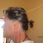 John's First Ponytail