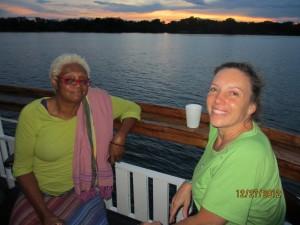 Zambezi River Sunset with Karla