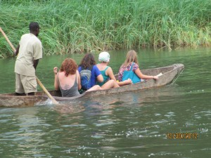Transport across the river to the lodge