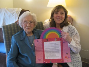 I made her this homemade card for her 90th birthday.