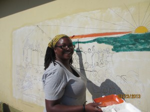 Dana is the PCV artist and has done murals around the country that leave a message about alcohol abuse.