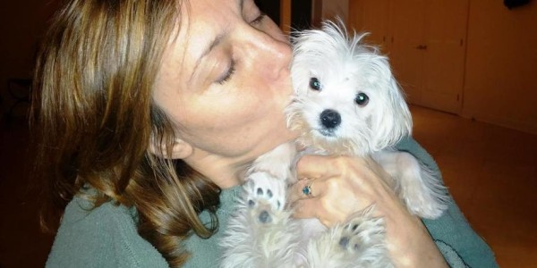Pula with her new mom